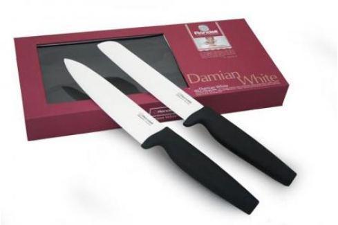 "463RD Набор ножей керамика Rondell 2шт. ""Damian White"" RD-463 Кухонные ножи"