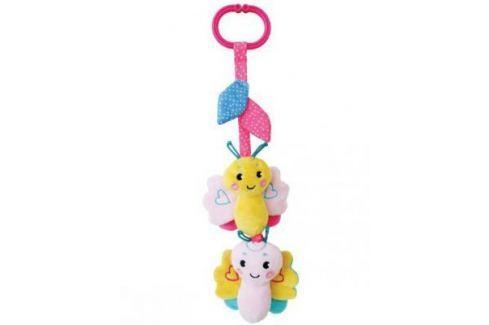 """Развивающая игрушка Жирафики Подвеска с вибрацией, пищалкой и шуршалкой """"Бабочка"""", розовая 939481 Игрушки-подвески"""