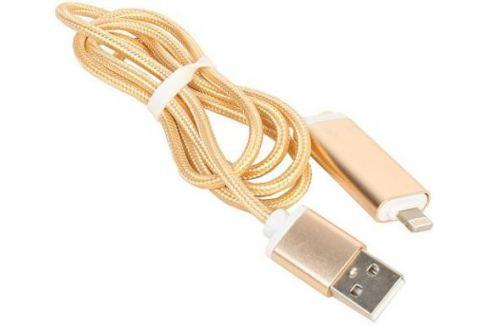 Переходник Telecom Lightning для наушников 3.5 мм и зарядки USB золотистый TA12858-G Переходники