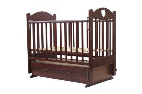 Кроватка с маятником Топотушки Ева-6 (арт. 16/вишня с сердечком) Кроватки с маятником