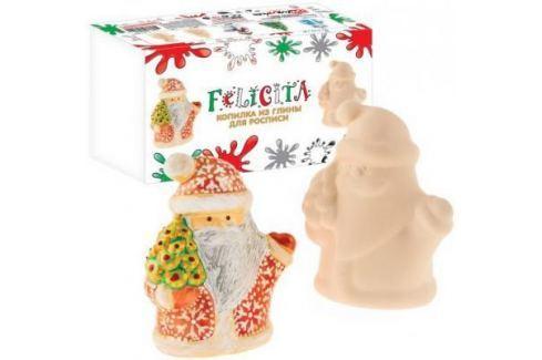 Набор для росписи по керамике FELICITA Копилка Дед Мороз от 5 лет 282609b Ассорти наборов для творчества