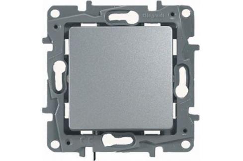 Переключатель одноклавишный Legrand Etika 10AX 250В алюминий 672405 Переключатели