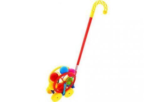 Каталка на палочке Karolina Toys Карусель разноцветный от 1 года пластик 40-0033 Каталки на палочке / на шнурке