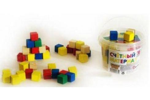Счетный материал Русские деревянные игрушки кубики 65шт. Д013c Деревянные кубики