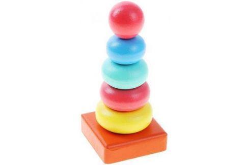"""Пирамида Alatoys """"Колечки"""" 14.5 см 6 элементов 050106 Деревянные пирамидки для детей"""