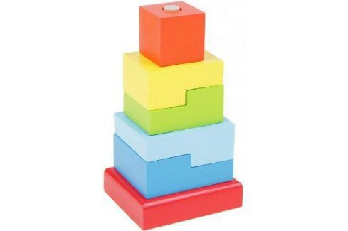 """Пирамида Alatoys """"Ступеньки"""" 6 элементов ПСТ03 Деревянные пирамидки для детей"""