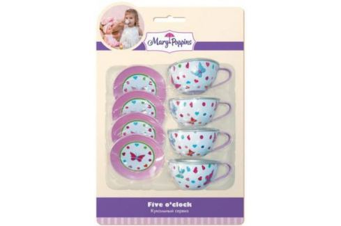 Набор посуды Mary Poppins Бабочки металлическая 453023 Игрушечная посуда