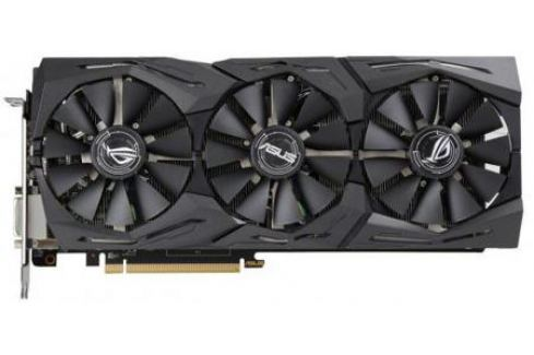 Видеокарта 8192Mb ASUS RX580 PCI-E DVI HDMI DP HDCP ROG-STRIX-RX580-T8G-GAMING Retail Видеокарты