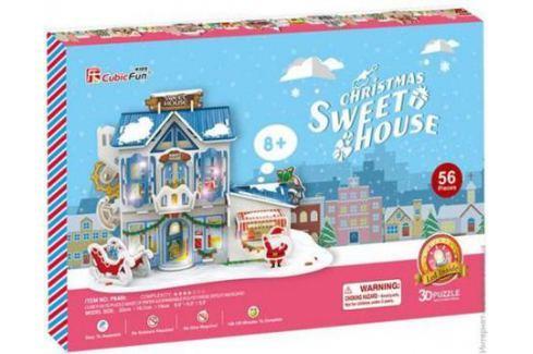 Пазл 3D CubicFun Рождественский домик 2 с подсветкой P648h 56 элементов 40818 3d пазлы