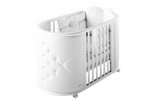 Кроватка-колыбель Bambolina Perla (белый) Кроватки без укачивания