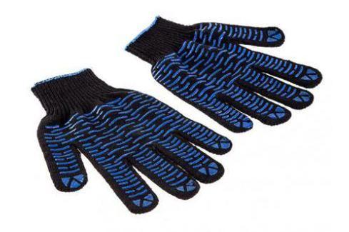 Перчатки Hammer Flex 230-018 ХБ с ПВХ покрытием, 5 нитей, черные Средства индивидуальной защиты